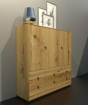 ELO tömörfa szekrény – 1340