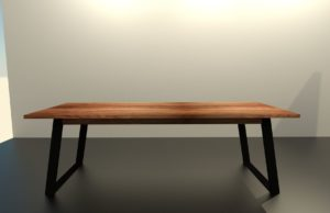 TEANO szánkólábas, tömörfa fix étkezőasztal – 354100