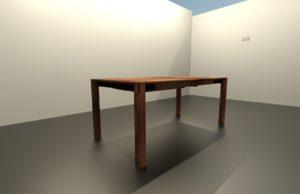 TEANO tömörfa fix étkezőasztal – 351100