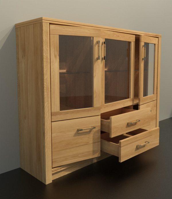 ALEA tömörfa üveges szekrény – 153105