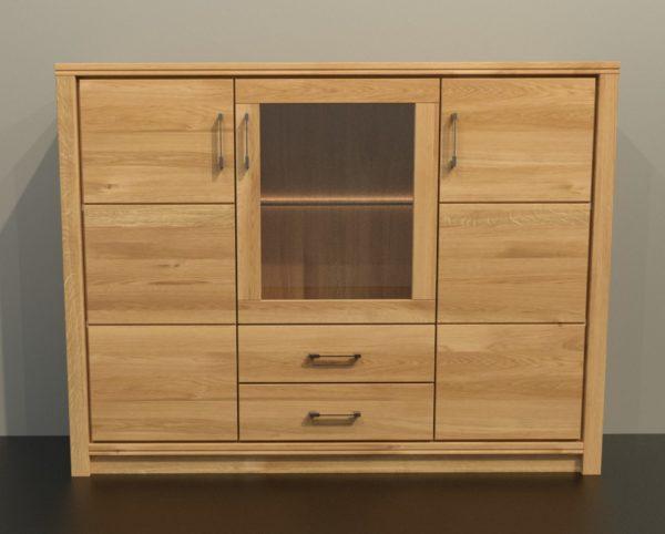 ALEA tömörfa üveges szekrény – 153100