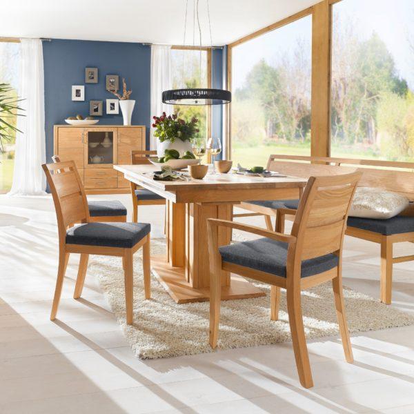 étkező asztalok, Tömörfa étkező asztalok