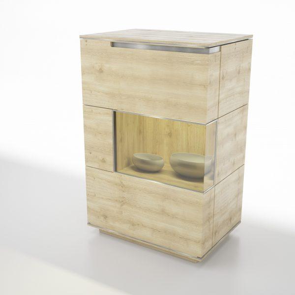 ACERNO tömörfa üveges komód – 76075
